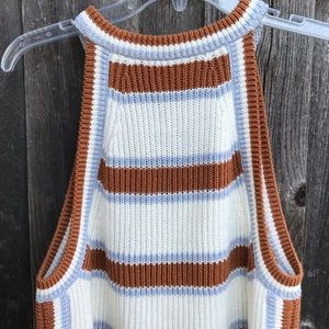 Madewell Tops - MADEWELL Sweater Tank Striped Size L